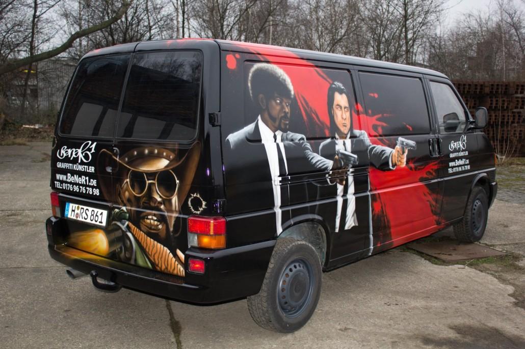 gestaltung vw t4 bus mit graffiti airbrush mischtechnik. Black Bedroom Furniture Sets. Home Design Ideas