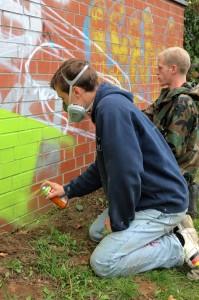 Graffiti Projekt in Wettbergen