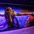 UV-Licht Gestaltung mit Graffiti