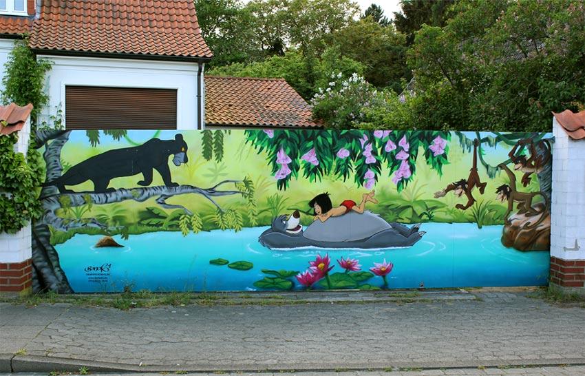 Kinderzimmer wandgestaltung dschungelbuch  Fassadengestaltung mit Graffiti - BeNeR1.de