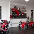 Ergebnis des Showmalen beim Saisoneröffnungsevent - eine Ducati 1199 Panigale