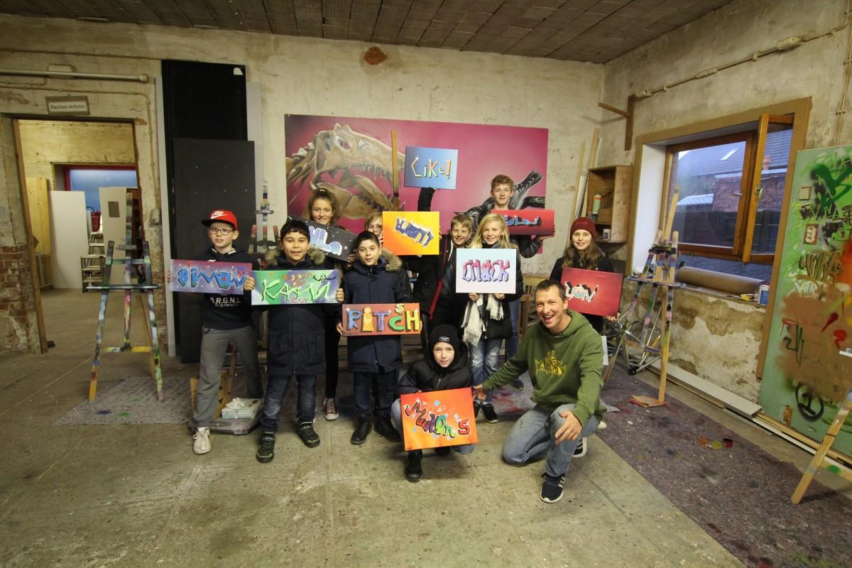 Graffiti Ferien Workshop I - 2018/2019 - BeNeR1 Graffiti Kunst