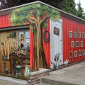 Garage bemalt mit Graffiti