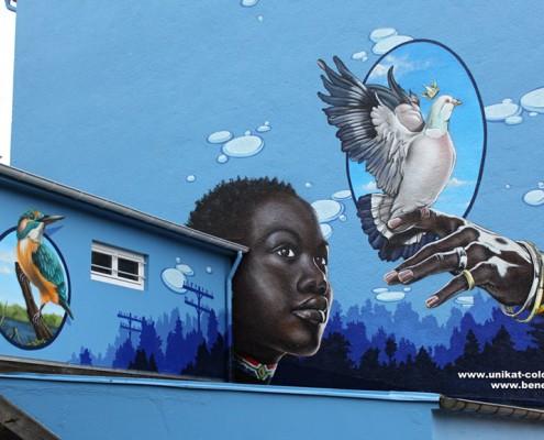 Graffiti Fassadengestaltung
