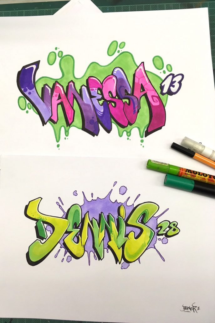 Words In Graffiti Letters