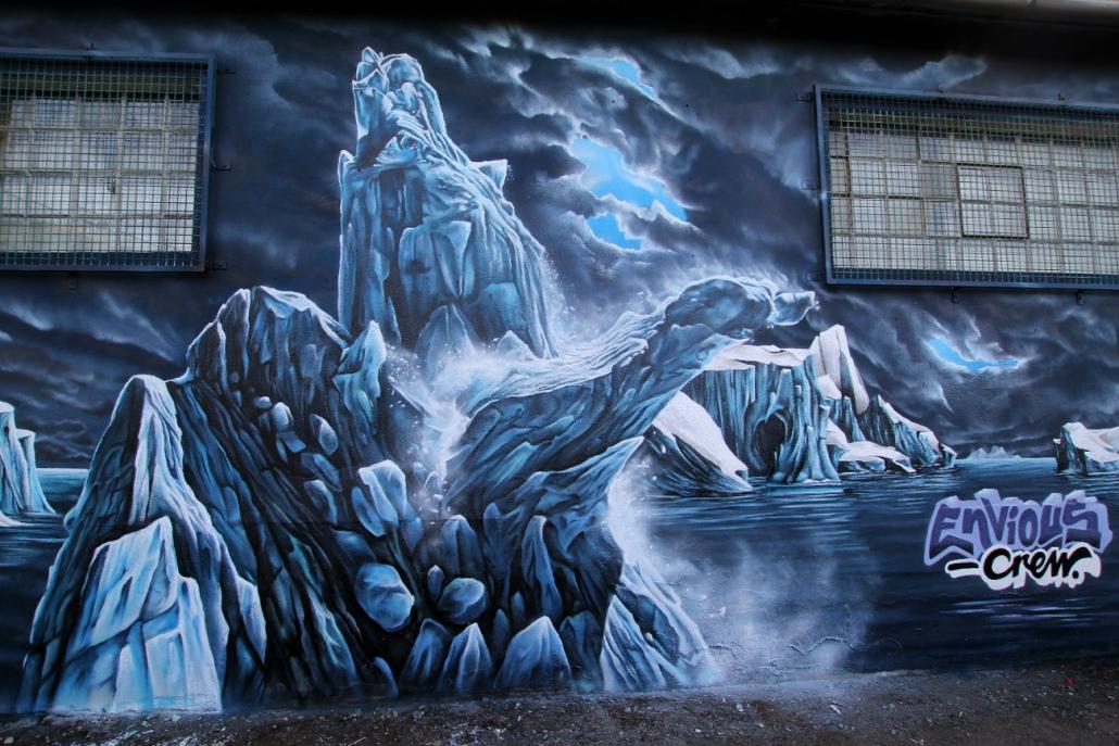 Gemälde eines Eisbergs