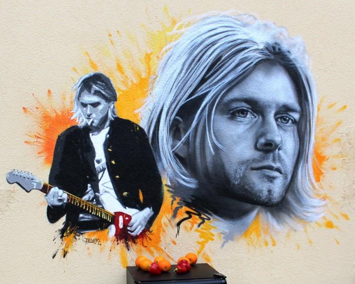 Kurt Cobain Portrait Zeichnung