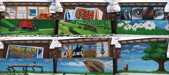 hannover graffiti collage