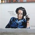 Wandgemälde Hannah Arendt Portrait