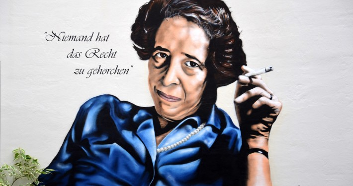 Hannah Arendt Wandmalerei