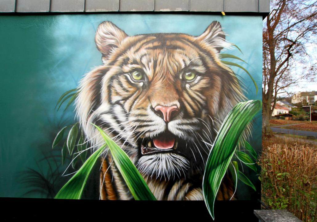 Tiger Wandmalerei