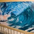 """""""The Wave"""" - Graffiti Gemälde im Treppenhaus 3.50x2m"""