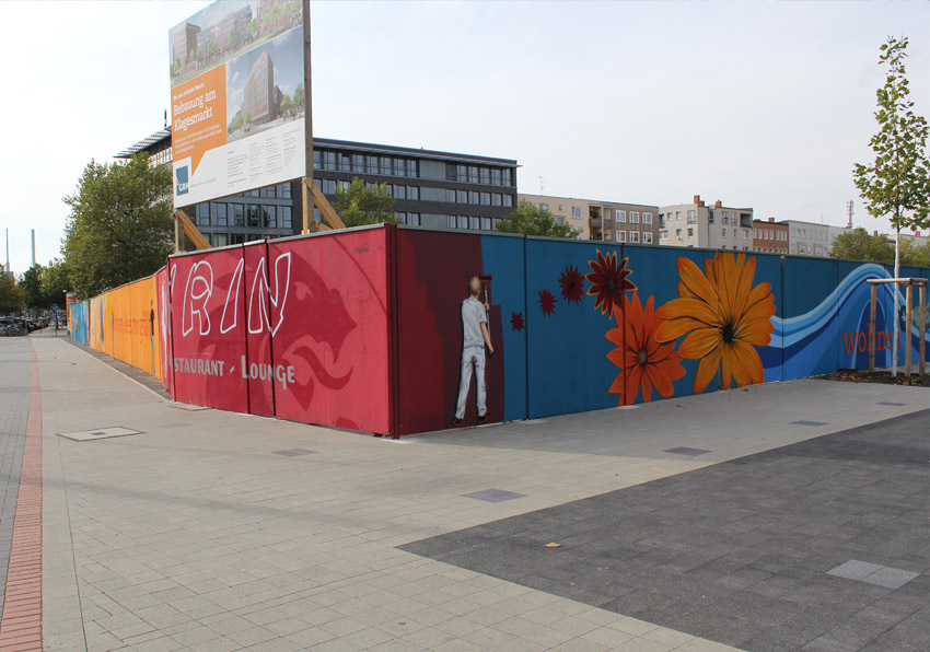 fassadenwerbung mit graffiti bener1 k nstler aus hannover. Black Bedroom Furniture Sets. Home Design Ideas