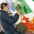 Graffiti Workshop für die Jugendhilfe List - Hier mit den ganz Kleinen beim Schablonen sprühen