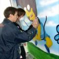 Graffiti Workshop für die Jugendhilfe List - Beim Mut machen und Erklären der Techniken