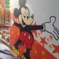 Graffiti Workshop - gemeinsam gemalte Mickey Mouse