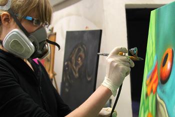 Airbrush Teilnehmerin