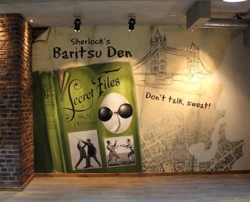 Sherlock Holmes Kunstwerk mit Baritsu Bezug