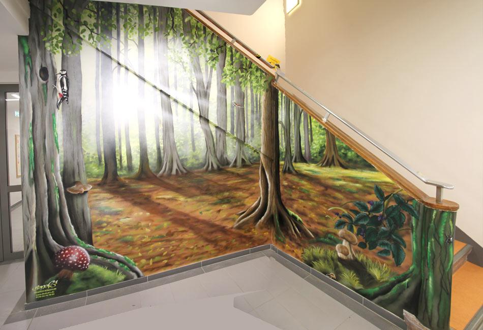 innenraumgestaltung mit graffiti benerde